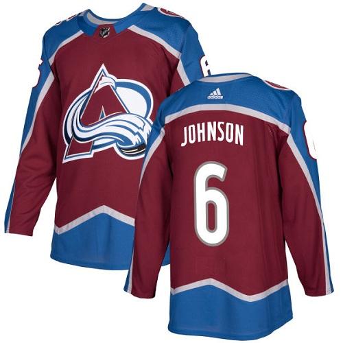 Adidas Colorado Avalanche #6 Erik Johnson Burgundy Red NHL Jersey