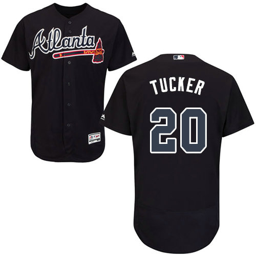 Atlanta Braves 20 Preston Tucker Navy Blue Flexbase Authentic Collection Stitched Baseball Jersey