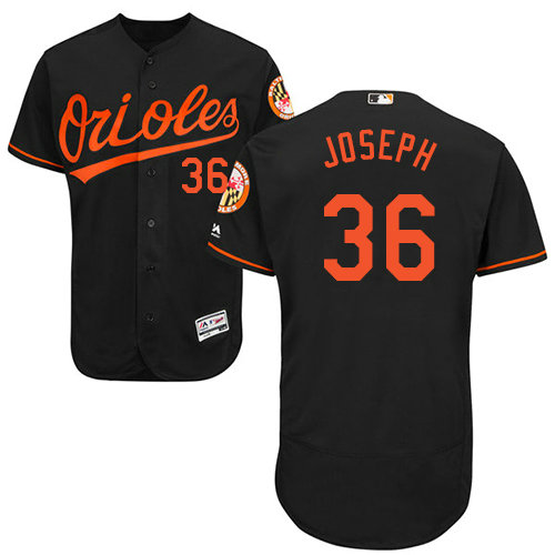 Baltimore Orioles 36 Caleb Joseph Black Flexbase Authentic Collection Stitched Baseball Jersey