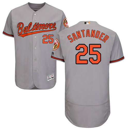 Baltimore Orioles 25 Anthony Santander Grey Flexbase Authentic Collection Stitched Baseball Jersey