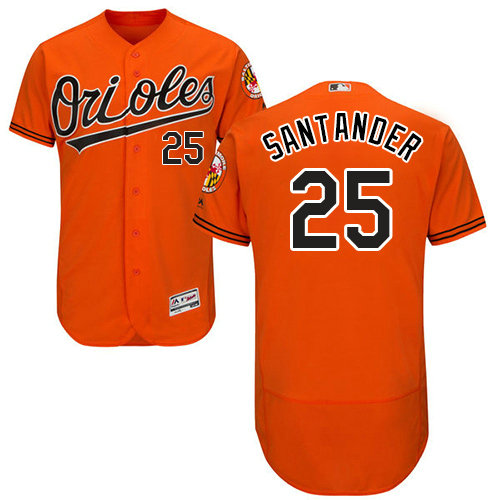 Baltimore Orioles 25 Anthony Santander Orange Flexbase Authentic Collection Stitched Baseball Jersey