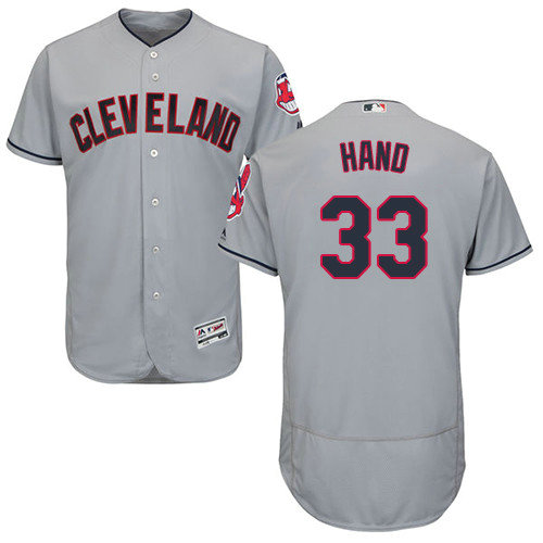Cleveland Indians 33 Brad Hand Grey Flexbase Authentic Collection Stitched Baseball Jersey