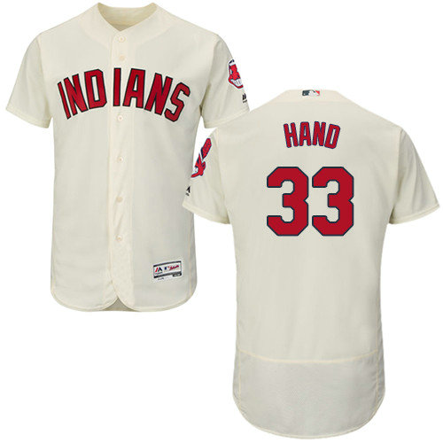 Cleveland Indians 33 Brad Hand Cream Flexbase Authentic Collection Stitched Baseball Jersey