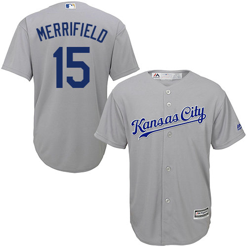 Kansas City Royals 15 Whit Merrifield Grey New Cool Base Stitched Baseball Jersey