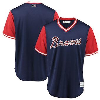 Men's Atlanta Braves Blank Majestic Navy 2018 Players' Weekend Team Jersey