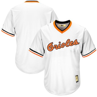 Men's Baltimore Orioles Majestic Blank White Alternate Cooperstown Cool Base Team Jersey