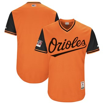 Men's Baltimore Orioles Blank Majestic Orange 2018 Players' Weekend Authentic Team Jersey