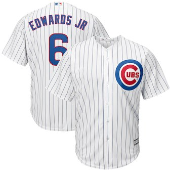 Men's Chicago Cubs 6 Carl Edwards Jr. Majestic Home White Cool Base Replica Player Jersey