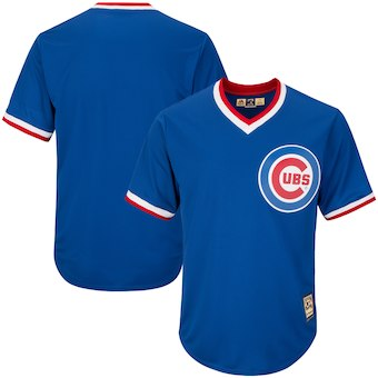 Men's Chicago Cubs Majestic Blank Alternate Royal Big & Tall Cooperstown Collection Cool Base Replica Team Jersey