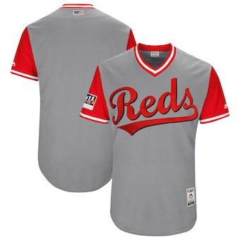 Men's Cincinnati Reds Blank Majestic Gray 2018 Players' Weekend Authentic Team Jersey