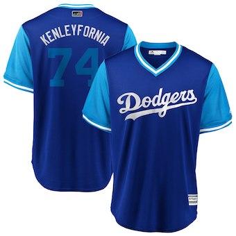 Men's Los Angeles Dodgers 74 Kenley Jansen Kenleyfornia Majestic Royal 2018 Players' Weekend Cool Base Jersey