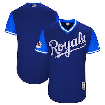 Men's Kansas City Royals Blank Majestic Royal 2018 Players' Weekend Authentic Team Jersey