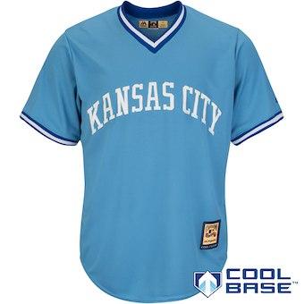 Men's Kansas City Royals Majestic Blank Light Blue Alternate Cooperstown Cool Base Team Jersey