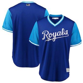 Men's Kansas City Royals Blank Majestic Royal 2018 Players' Weekend Team Jersey