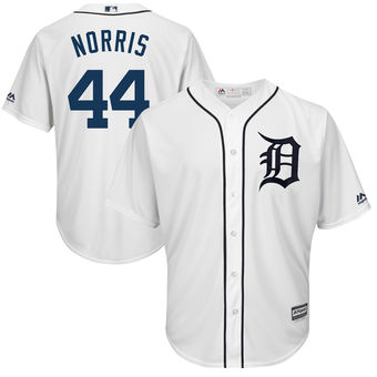 Men's Detroit Tigers 44 Daniel Norris Majestic White Cool Base Player Jersey