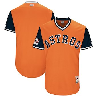 Men's Houston Astros Blank Majestic Orange 2018 Players' Weekend Authentic Team Jersey