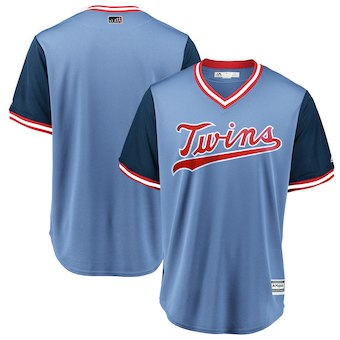 Men's Minnesota Twins Blank Majestic Light Blue 2018 Players' Weekend Team Cool Base Jersey