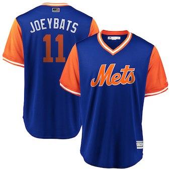 Men's New York Mets 11 Jose Bautista JoeyBats Royal 2018 Players' Weekend Cool Base Jersey
