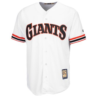 Men's San Francisco Giants Majestic Blank White Home Cooperstown Cool Base Team Jersey
