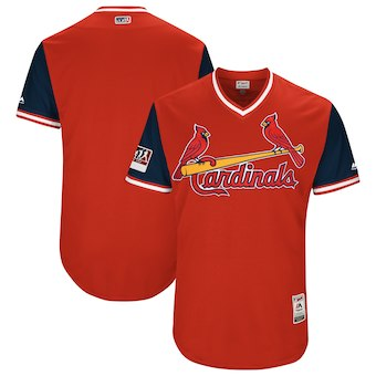 Men's St. Louis Cardinals Blank Majestic Red 2018 Players' Weekend Authentic Team Jersey