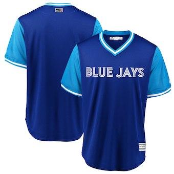 Men's Toronto Blue Jays Blank Majestic Royal 2018 Players' Weekend Team Cool Base Jersey