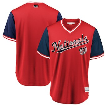 Men's Washington Nationals Blank Majestic Red 2018 Players' Weekend Team Cool Base Jersey