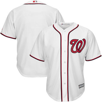 Men's Washington Nationals Blank Majestic White Home Big & Tall Cool Base Team Jersey