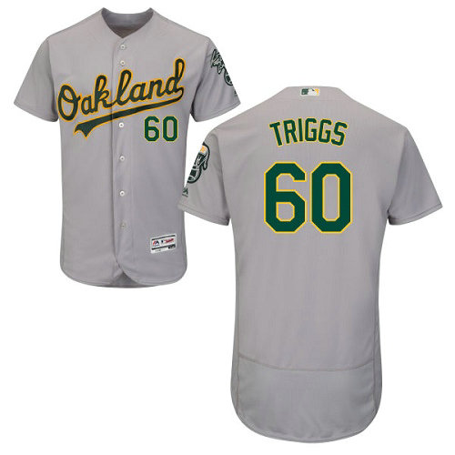 Oakland Athletics 60 Andrew Triggs Gray Flexbase Authentic Collection Stitched Baseball Jersey