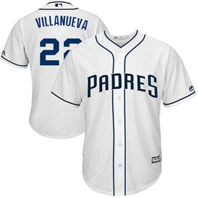 San Diego Padres 22 Christian Villanueva White New Cool Base Stitched Baseball Jersey