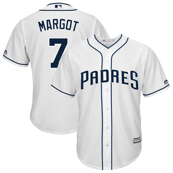 San Diego Padres 7 Manuel Margot Majestic Home White Cool Base Replica Player Jersey