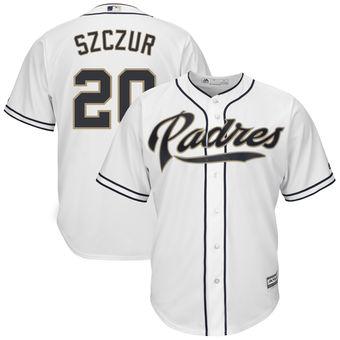 San Diego Padres 20 Matt Szczur Majestic Home White Cool Base Replica Player Jersey
