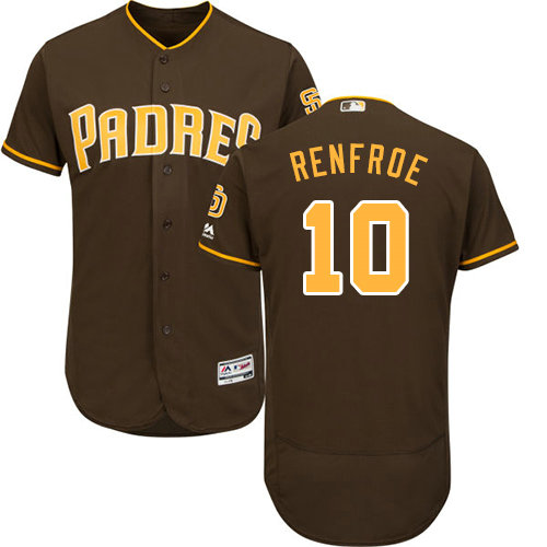 San Diego Padres 10 Hunter Renfroe Brown Flexbase Authentic Collection Stitched Baseball Jersey
