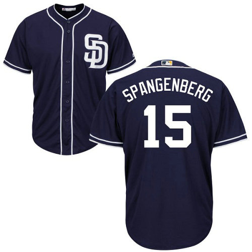 San Diego Padres 15 Cory Spangenberg Navy Blue New Cool Base Stitched Baseball Jersey
