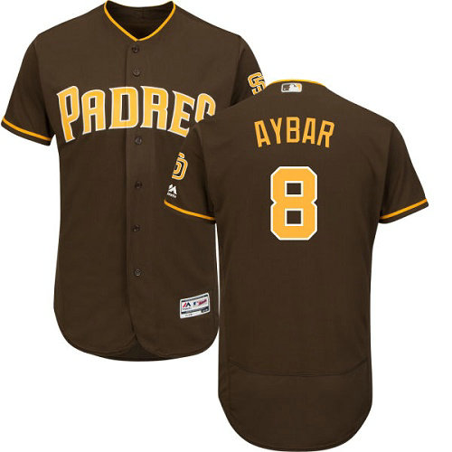 San Diego Padres 8 Erick Aybar Brown Flexbase Authentic Collection Stitched Baseball Jersey