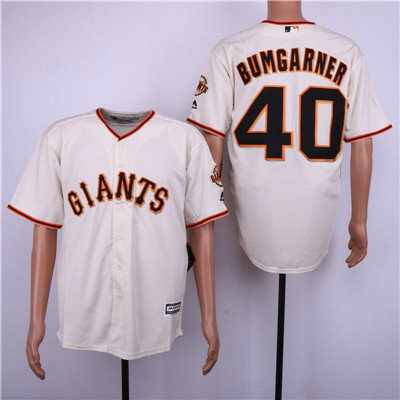 San Francisco Giants 40 Madison Bumgarner Cream Cool Base Jersey