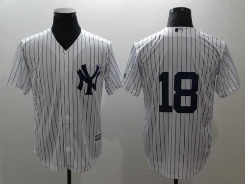 Yankees 18 Didi Gregorius White Cool Base MLB Jersey