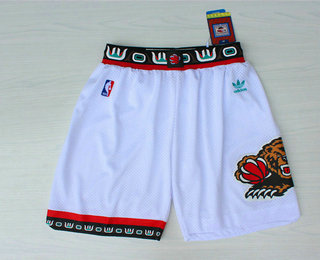 Men's Memphis Grizzlies White Hardwood Classics Swingman Shorts