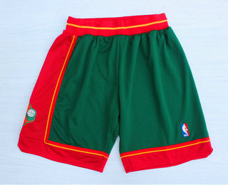 Men's Seattle Supersonics Green 1995-96 Hardwood Classics Swingman Shorts