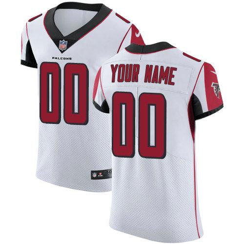 Men's Nike Atlanta Falcons Customized White Vapor Untouchable Custom Elite NFL Jersey