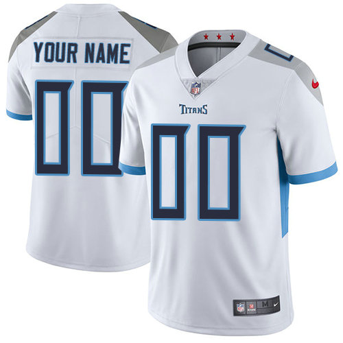 Men's Nike Tennessee Titans White Road  Customized Vapor Untouchable Limited NFL Jersey