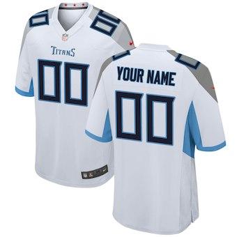 Men's Tennessee Titans Nike White 2018 Custom Game Jersey