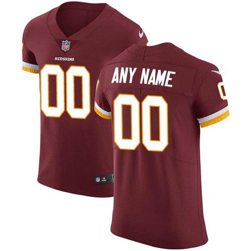 Men's Nike Washington Redskins Customized Burgundy Red Team Color Vapor Untouchable Custom Elite NFL Jersey
