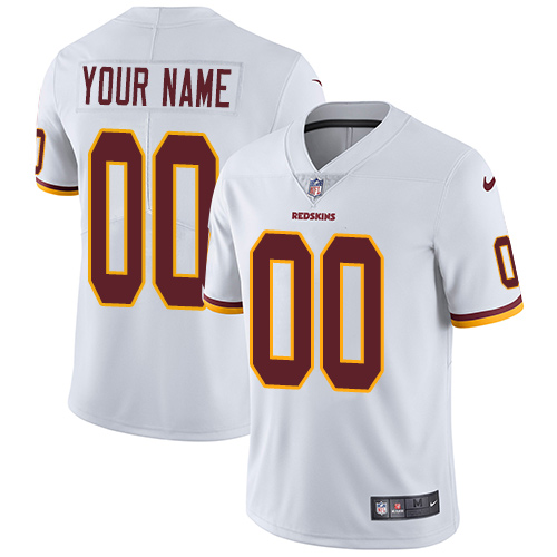Youth Nike Washington Redskins Road White Customized Vapor Untouchable Limited NFL Jersey