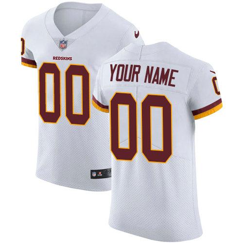 Men's Nike Washington Redskins Customized White Vapor Untouchable Elite Player NFL Jersey