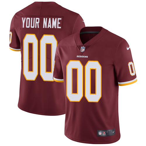 Youth Nike Washington Redskins Home Burgundy Red Customized Vapor Untouchable Limited NFL Jersey