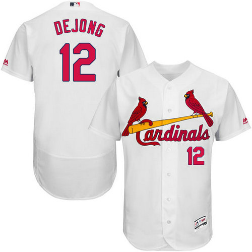 St.Louis Cardinals #12 Paul DeJong White Flexbase Authentic Collection Stitched Baseball Jersey