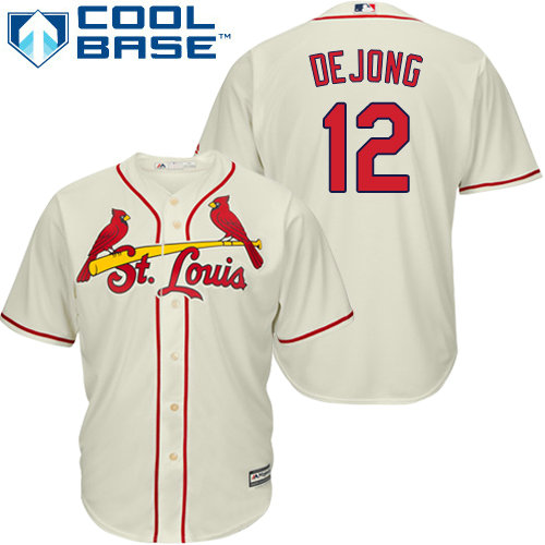 St.Louis Cardinals #12 Paul DeJong Cream New Cool Base Stitched Baseball Jersey