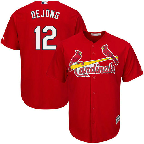 St.Louis Cardinals #12 Paul DeJong Red New Cool Base Stitched Baseball Jersey