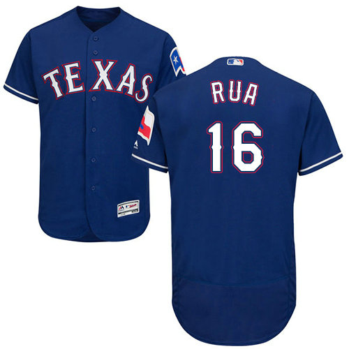 Texas Rangers #16 Ryan Rua Blue Flexbase Authentic Collection Stitched Baseball Jersey