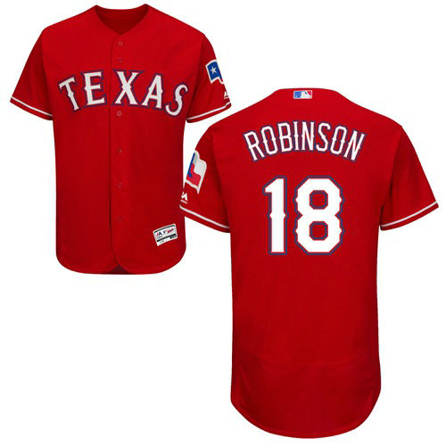 Texas Rangers #18 Drew Robinson Red Flexbase Authentic Collection Stitched Baseball Jersey